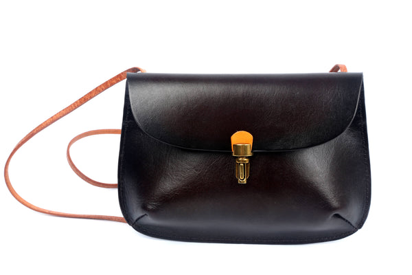 Ada Leather Crossbody Bag - Black - LilloBellaBoutique.com