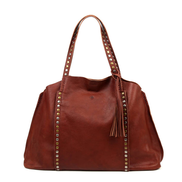 Birch Leather Tote Bag - Brown - LilloBellaBoutique.com