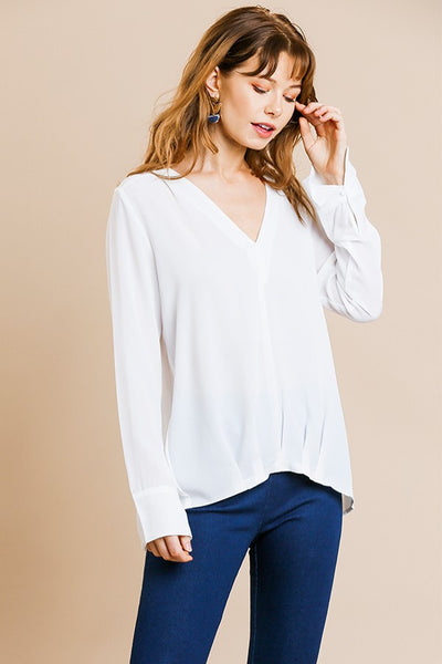 Kaycee Tucked Front Blouse - LilloBellaBoutique.com