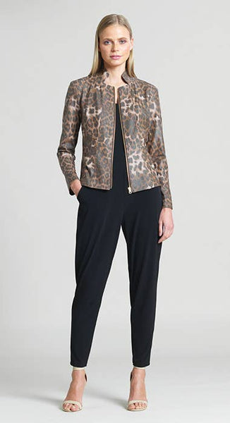 Clara Sunwoo Liquid Leather Cheetah Jacket