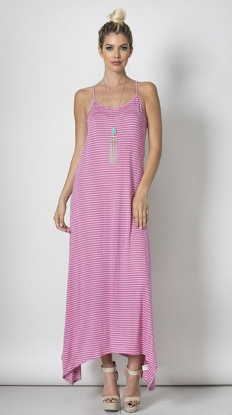 Seaside Escape Maxi Dress - Mauve/Grey