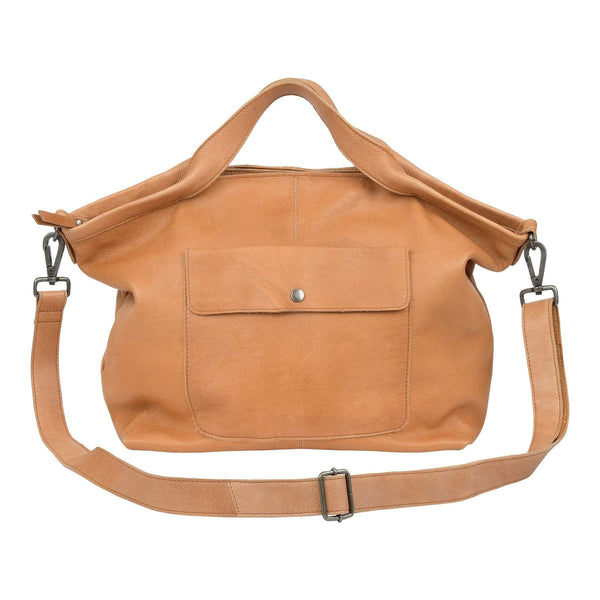 Latico Leather Colin Tote/Crossbody - Tan - LilloBellaBoutique.com