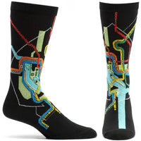 Men's Dc Subway Map Sock - Black - LilloBellaBoutique.com