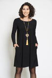 Compli K Round Neck Dress - Black - LilloBellaBoutique.com