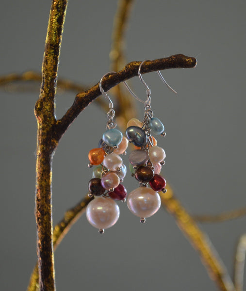 Myriad Pearl Earrings - LilloBellaBoutique.com
