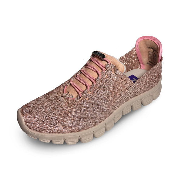 Zee Alexis Danielle Pull On Sneaker - Rose Gold