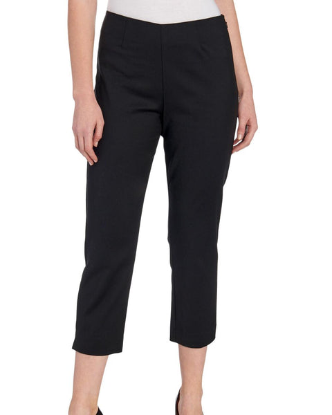Classic Slim Fit Pull On Capri Pant - Black - LilloBellaBoutique.com