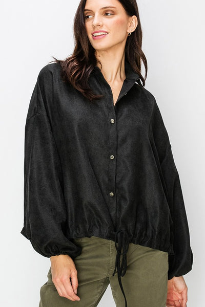 Coleen Poet Shirt - Black - LilloBellaBoutique.com