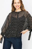 Subtle Elegance Blouse - Black - LilloBellaBoutique.com