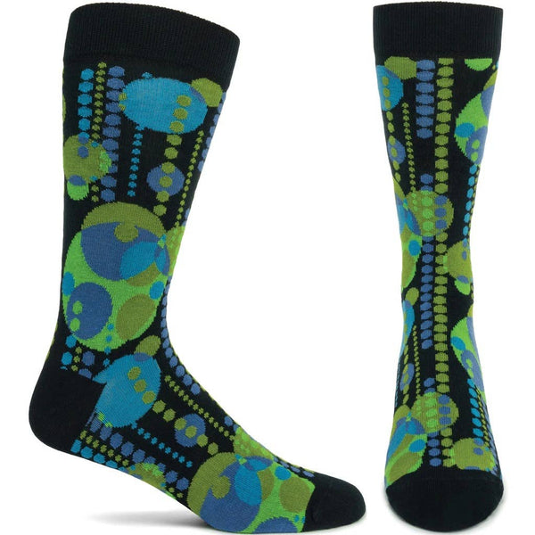 Ozone Socks Men's FLW Midway Garden Mural - Green - LilloBellaBoutique.com