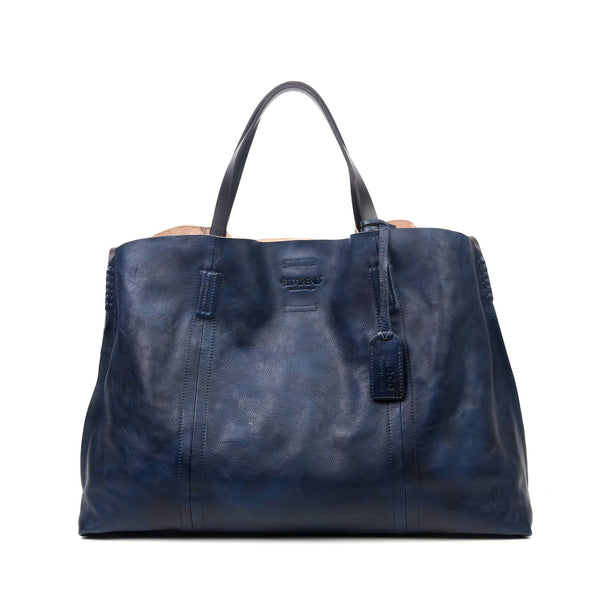 Forest Island Leather Carryall Bag - Navy