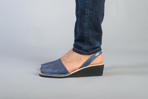 Pons Avarca Wedge Sandal - French Blue