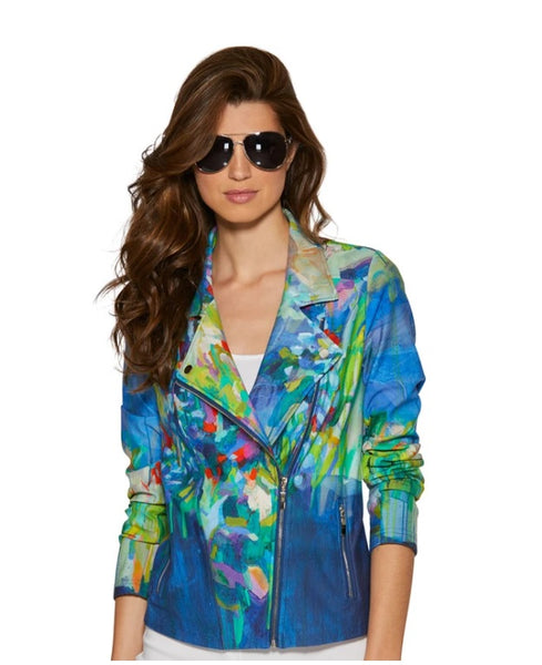 Claire Desjardin - Full Bloom Moto Jacket - LilloBellaBoutique.com
