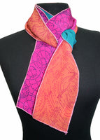 Harshita Designs Tubular Silk Chiffon Scarf - Coral
