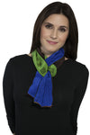 Harshita Designs Tubular Silk Chiffon Scarf -Lapis