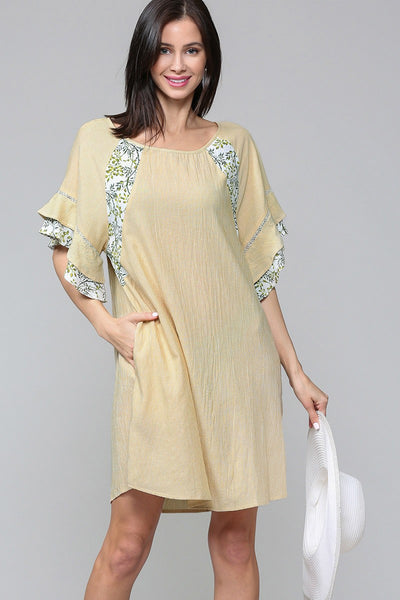 Tiffany Ruffle Sleeve Dress - LilloBellaBoutique.com