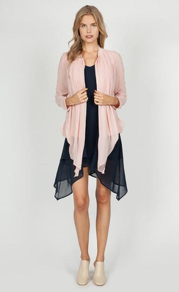 Seraphine Bubble Hem Cardigan - Rose