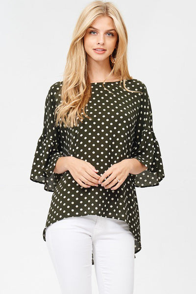 On The Go Blouse - Olive - LilloBellaBoutique.com