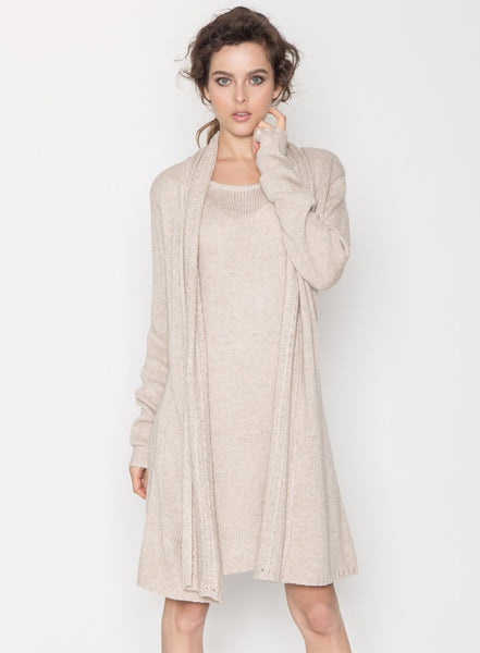 Katarina Drape Front Sweater Dress