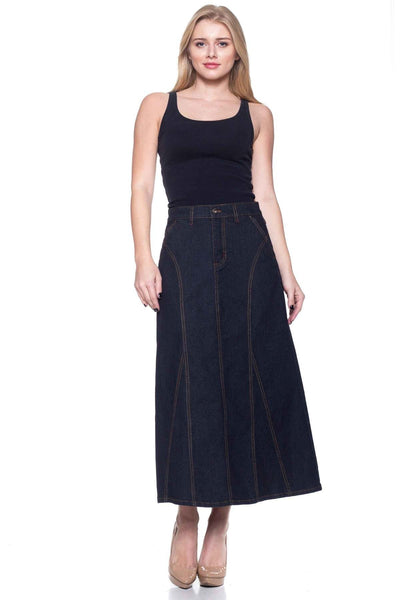 Nellie Denim Skirt - LilloBellaBoutique.com