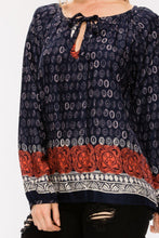 Load image into Gallery viewer, Gilda Border Print Blouse