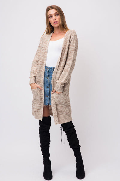 Brianna Long Cardigan - Oatmeal