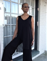 Compli K Chiffon Overlay Tunic Top - Black - LilloBellaBoutique.com