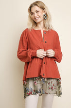 Load image into Gallery viewer, Lucretia Cotton Jacket - Terracotta