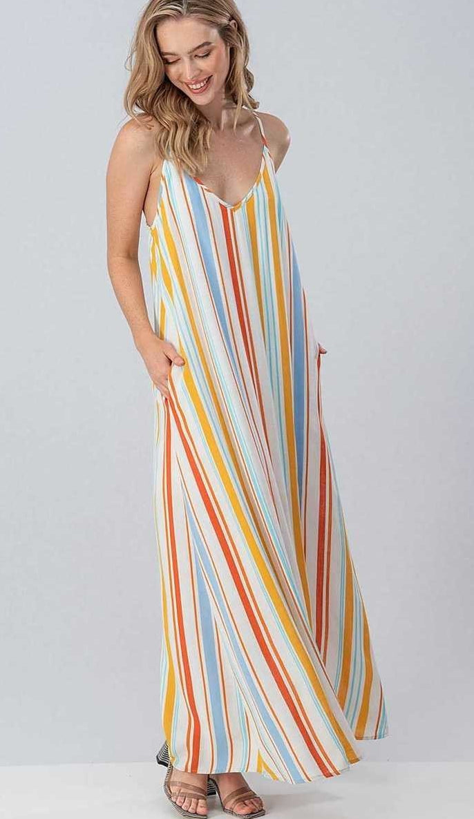 Stroll On The Promenade Maxi Dress