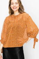 Subtle Elegance Blouse - Amber - LilloBellaBoutique.com
