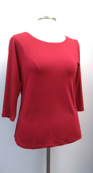 Moovment Design Amy Plus Top - Red - LilloBellaBoutique.com