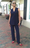 Compli K Pull On Straight Leg Pant - Navy. - LilloBellaBoutique.com