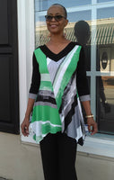 Lior Paris Abstract Print Tunic - Green