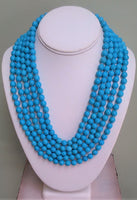 Multi-Strand Turquoise Necklace - LilloBellaBoutique.com