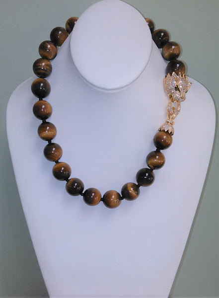 Feeling Bold Tiger Eye Necklace - LilloBellaBoutique.com
