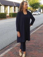 Compli K Long Cardigan - Navy - LilloBellaBoutique.com