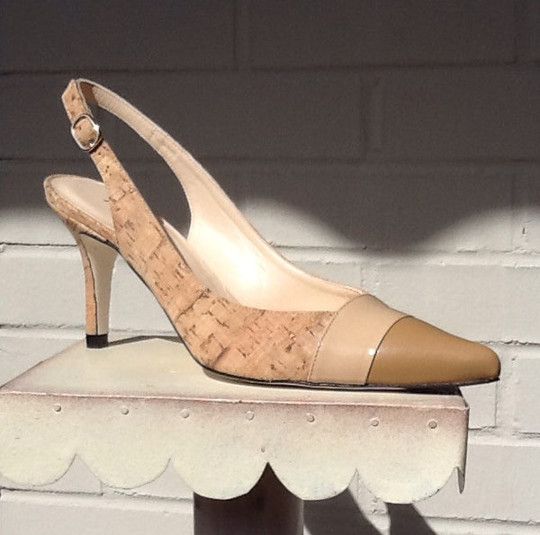 Jon Josef Altea Post Slingback Pump- Beige