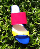 Jon Josef Capri Slide On Sandal -Fucshia Multi