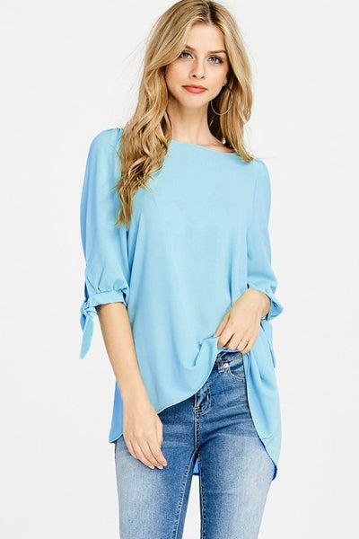 Clean Slate Top - Blue - LilloBellaBoutique.com