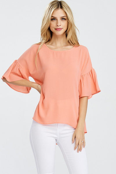 Spring Fresh Top - Lt. Coral - LilloBellaBoutique.com