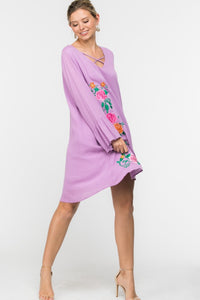 Going Out Shift Dress - Lavender