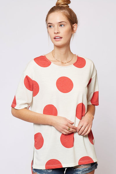 Mod Spots Tee - Red - LilloBellaBoutique.com
