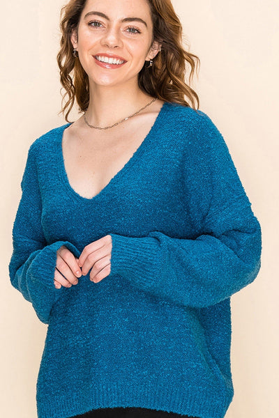 Laura Pullover Sweater - Blue - LilloBellaBoutique.com