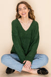 Laura Pullover Sweater - Green - LilloBellaBoutique.com