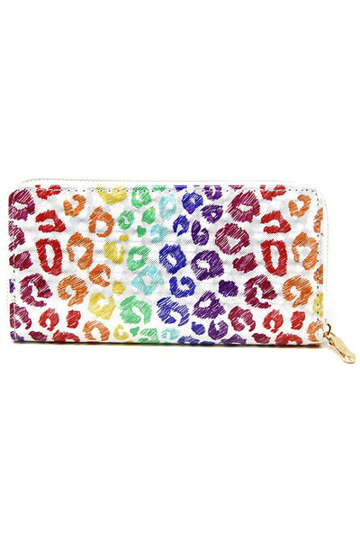 Hologram Animal Print Wallet