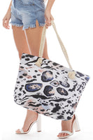Animal Print Beach Bag - LilloBellaBoutique.com