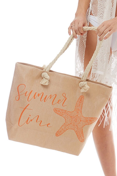 Lurex Beach Bag - Summer Time - LilloBellaBoutique.com