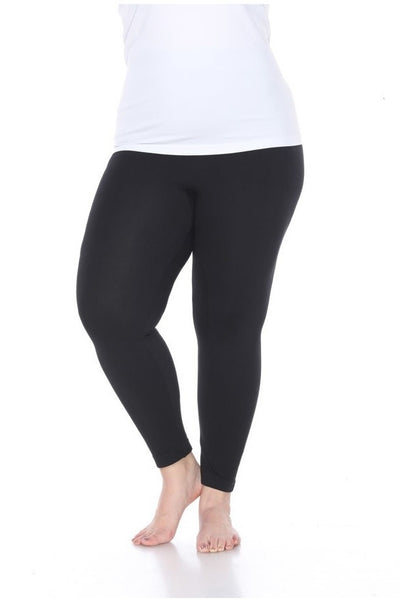 Basic Seamless Plus Size Legging - Black - LilloBellaBoutique.com