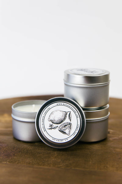 Wandering Lark Travel Size Candle - Lemon Tart - LilloBellaBoutique.com