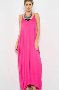 Lily Maxi Dress - Hot Pink